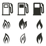 Fuel icon set. Fuel vector icons set. Black illustration on white background for graphic and web design vector illustration