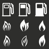 Fuel icon set. Royalty Free Stock Photos