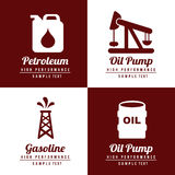 Fuel icons fuel icons. Over white and brown background vector illustration Royalty Free Stock Image