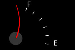 Fuel indicator showing over full Royalty Free Stock Photography