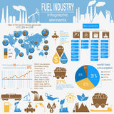 Fuel industry infographic, set elements for creating your own in Royalty Free Stock Image
