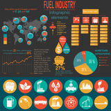 Fuel industry infographic, set elements for creating your own in Royalty Free Stock Photography