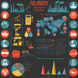Fuel industry infographic, set elements for creating your own in Stock Photos