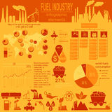 Fuel industry infographic, set elements for creating your own in. Fographics. Vector illustration stock illustration