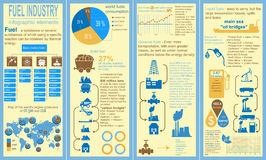 Fuel industry infographic, set elements for creating your own in Stock Photo