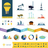 Fuel industry infographics. Power generation elements. Design elements collection.  on white Royalty Free Stock Photography