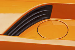 Fuel inlet of sports racing car Royalty Free Stock Photos