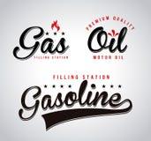 Fuel labels Stock Photos
