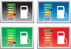 Fuel level. Four different illustrations of fuel level Royalty Free Stock Photo
