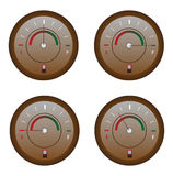 Fuel Meter Icons Set. Vector illustration of various helpful fuel meter icons set Stock Photography