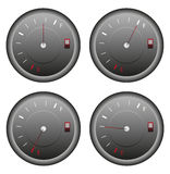 Fuel Meter Icons Set Royalty Free Stock Image