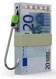 Fuel and Money Concept - 3D Stock Image