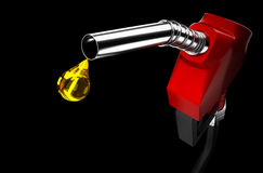 Fuel nozzle drip. Stock Photos