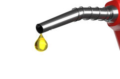 Fuel nozzle drip. Royalty Free Stock Photo