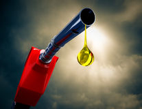 Fuel nozzle drip. Stock Photo