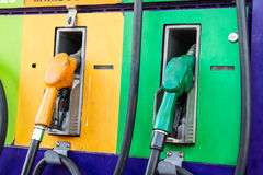 Fuel nozzle, gas pump Royalty Free Stock Photos