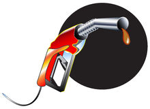 Fuel Nozzle and Gas station attendant Stock Photos