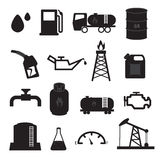 Fuel  Oil and Gas Icons Set. 16 Designs of oil and gas icons set for using in website or other job Stock Photos