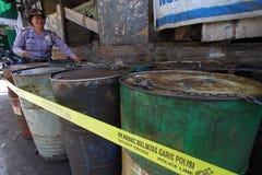 Fuel oil stockpiled Stock Photos