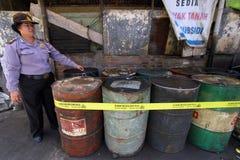 Fuel oil stockpiled Royalty Free Stock Photos