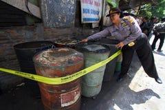 Fuel oil stockpiled Stock Photo