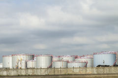 Fuel Oil Storage Tanks Royalty Free Stock Image