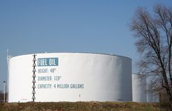 Fuel Oil Tank. A fuel oil tank royalty free stock image