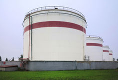 Fuel Oil Tanks Stock Image