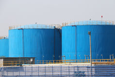 Fuel Oil Tanks Royalty Free Stock Photos