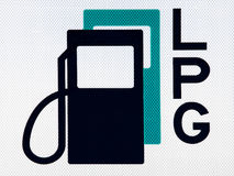 Fuel pictogram. Pictogram of a gas station in the Netherlands Stock Photos