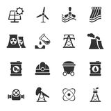 Fuel and Power Generation Icons Stock Photos