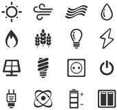 Fuel and Power Generation Icons Royalty Free Stock Images