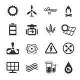 Fuel and Power Generation Icons Stock Image