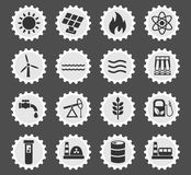 Fuel and power icon set Royalty Free Stock Photo