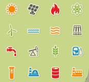 Fuel and power icon set Stock Photography