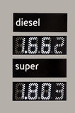 Fuel price Royalty Free Stock Photography