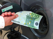 Fuel prices. Every day rising fuel prices Stock Photography