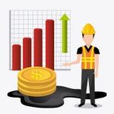 Fuel prices economy design Stock Images