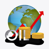 Fuel prices economy design Royalty Free Stock Images