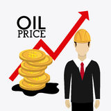 Fuel prices economy design Stock Photography