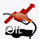 Fuel prices economy design Stock Photography