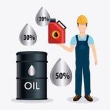 Fuel prices economy design Stock Image