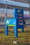 Fuel prices Stock Photos