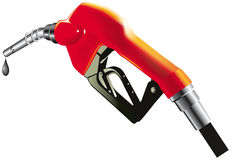 Fuel pump. Red fuel pump with drop of gasoline Royalty Free Stock Image