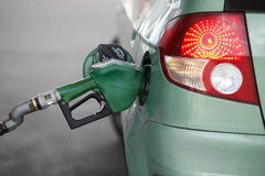 Fuel Pump. Pumping gas in to the tank Stock Photography