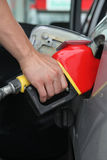 Fuel pump. Gasoline pump refilling automobil fuel. Shallow focus Royalty Free Stock Image