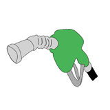 Fuel pump cartoon  Royalty Free Stock Photos