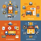 Fuel Pump Concept Set Royalty Free Stock Photos