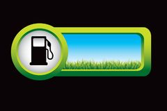 Fuel pump on countryside banner Stock Photo