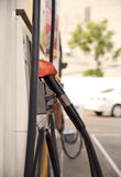 Fuel pump dispensers Royalty Free Stock Photos